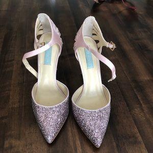 Blue by Betsey Johnson Blush Glitter Heels